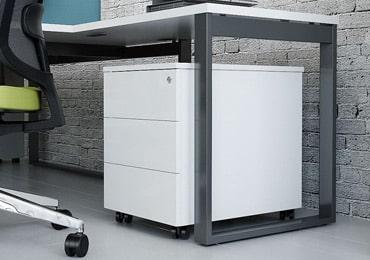 Desk storage cabinets