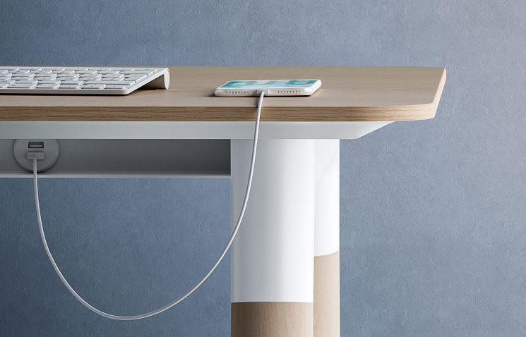 Desk with USB Socket