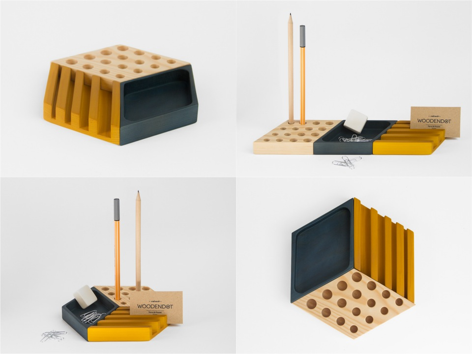 Desk-organizer woodendot accessories