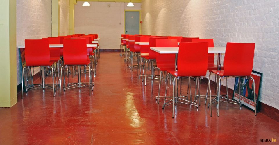 Dover Castle red cafe chair