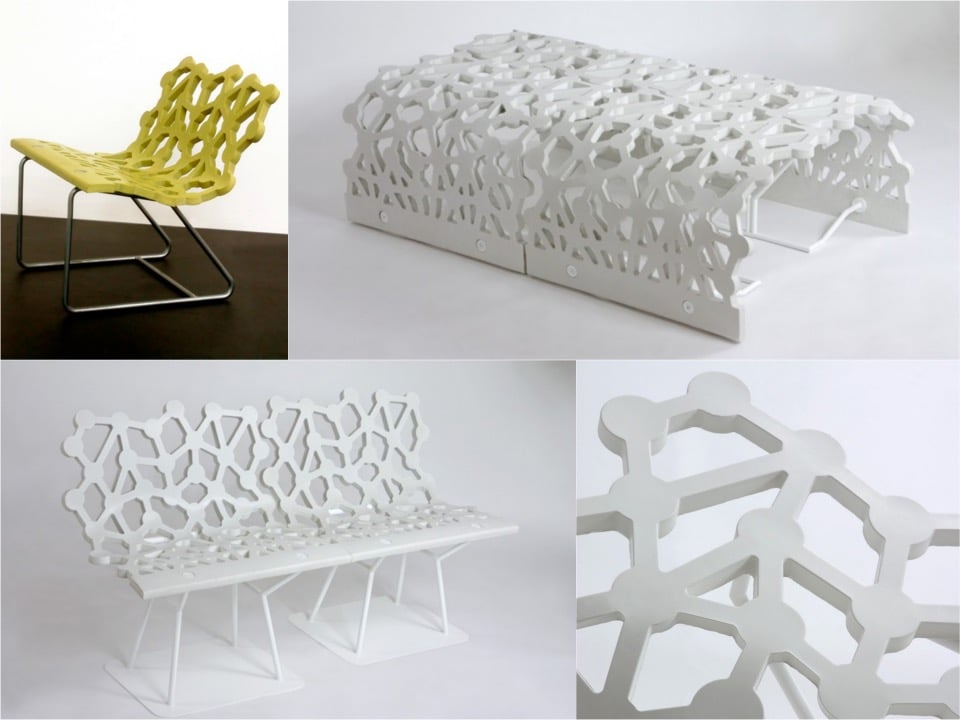Ductal street furniture Olivier Chabaud and Leveque Spaciest blogpost