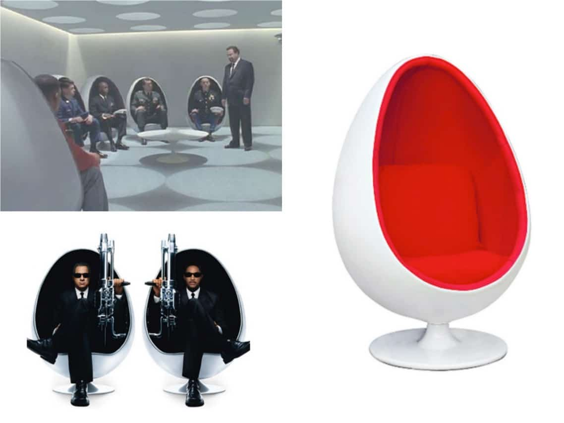 Egg Chair Men in Black movie spaceist blogpost