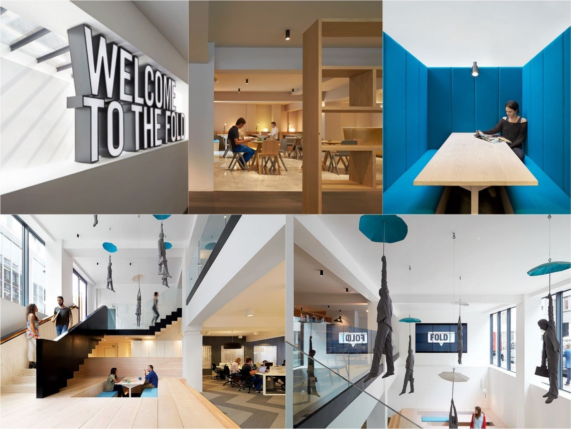 Fold7 office abstract design spaceist blogpost