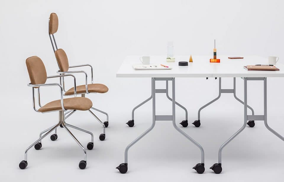 Folding school table with chairs
