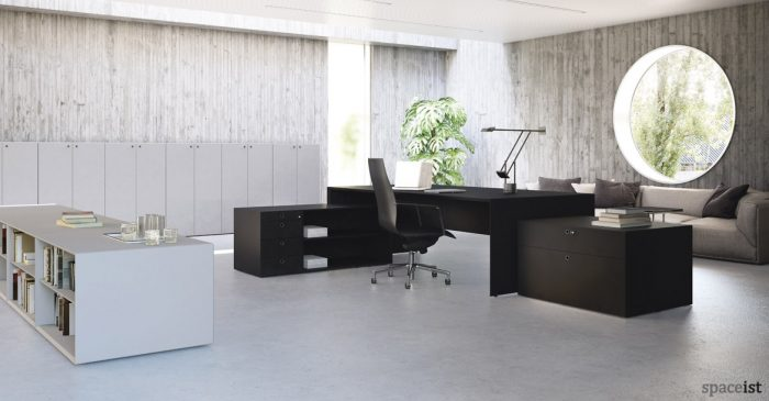 Forty5 designer black executive furniture range