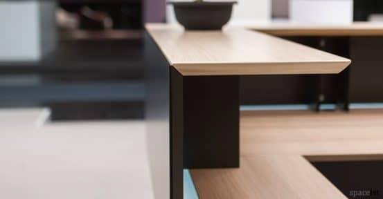 Forty5 black oak reception desk counter top