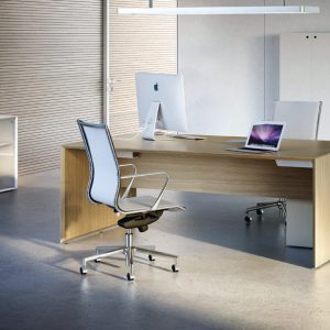 Forty5 oak and white office furniture range
