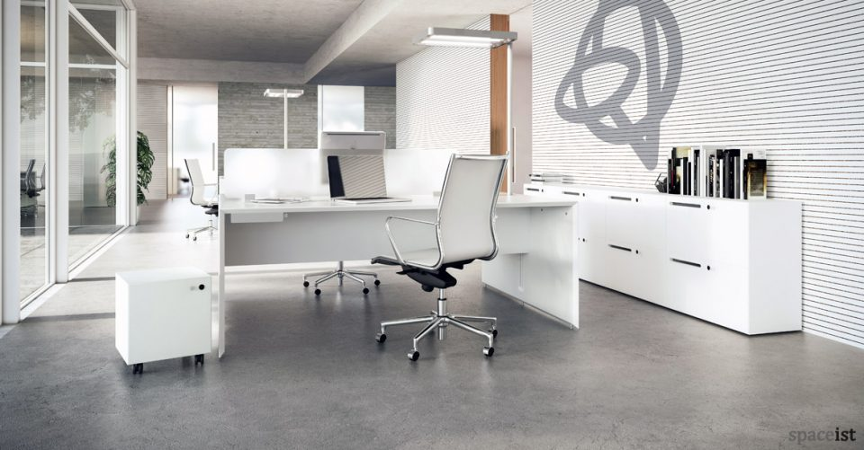 Forty5 designer white office furniture