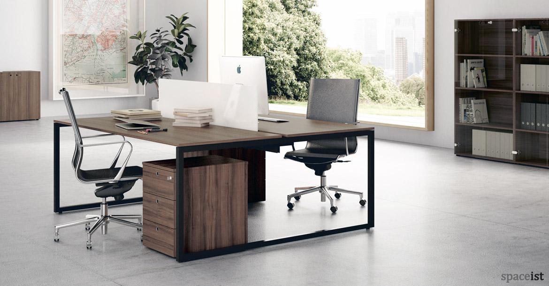 Walnut office furniture Luxury Spaceist Office Desks Frame Walnut Desk