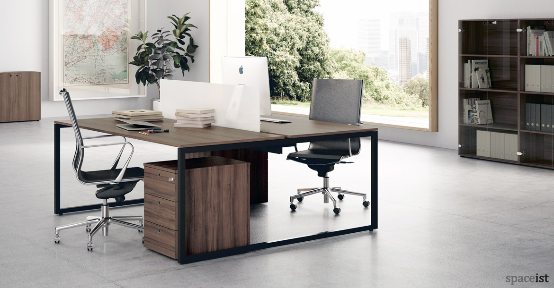 walnut office furniture. frame desk walnut top with black office furniture n