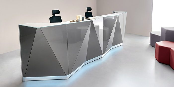 Glass Reception Desks