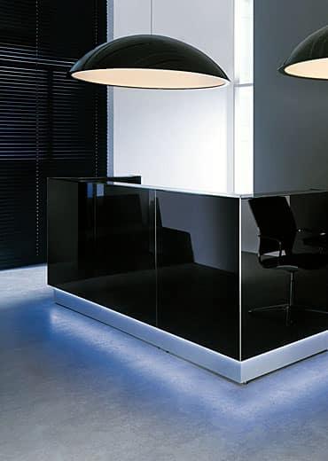 Glass reception desks