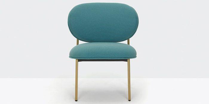 Green + Brass Reception Chair