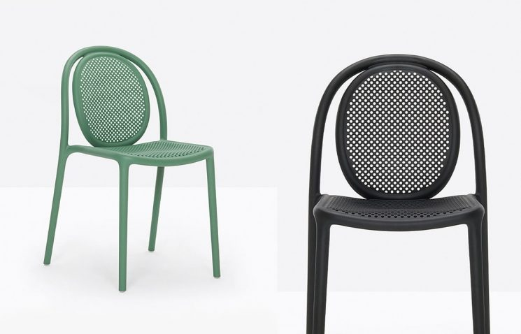 Green Outdoor Cafe Chair