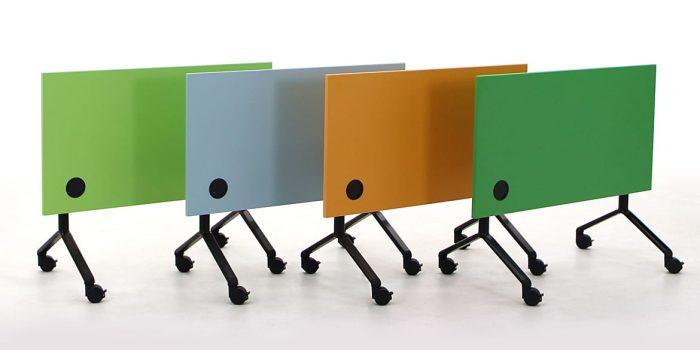 Green tilt top conference desk