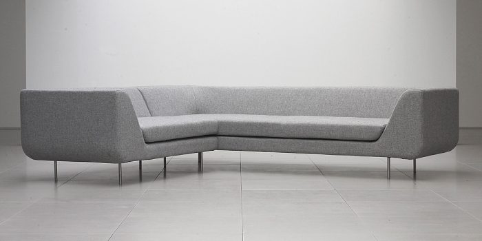 Grey Office Sofa Corner