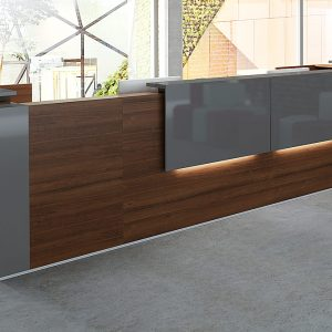 Large Reception Counter Wood