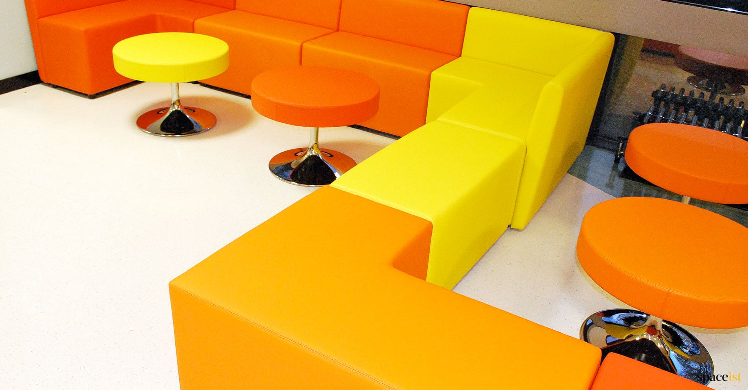 Guildford-college-red-orange-seating