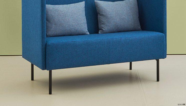 High Back Blue Sofa Closup