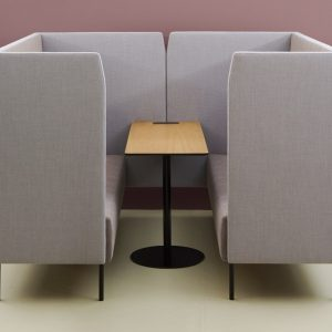 High Back Meeting Booth Grey