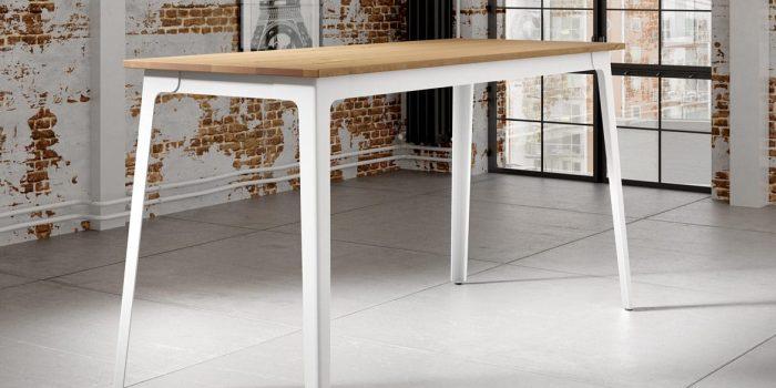 Solid oak canteen tables