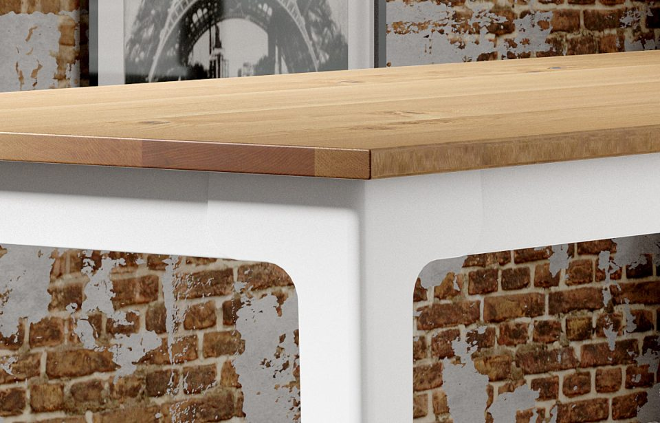 Oak and white table top