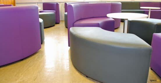 youth club purple booths