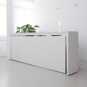 How can I make my white desk a bit more exciting?