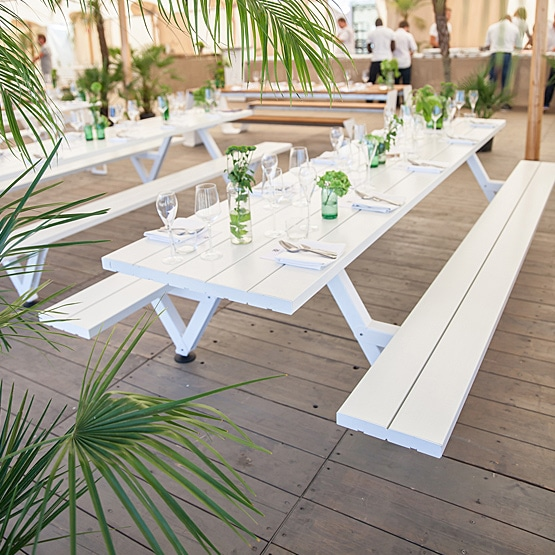 How will outdoor canteen furniture allow my business to open up new spaces?