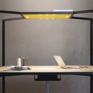 Hub black metal office desk with canopy