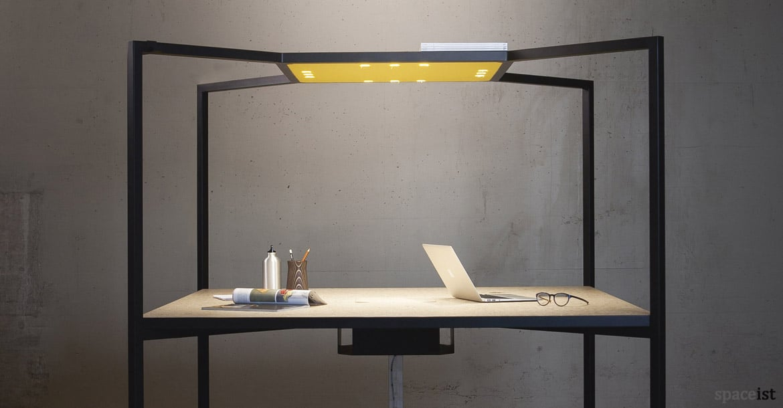 office desk metal. Hub Black Metal Office Desk With Canopy