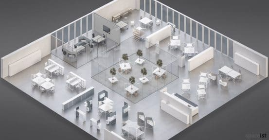 Hub office layout suggestion