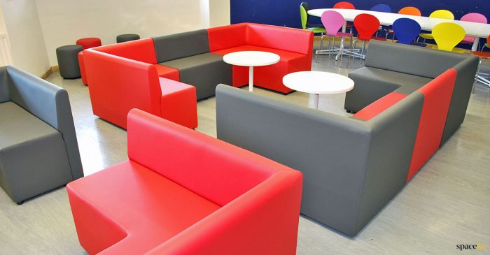 Red student seating