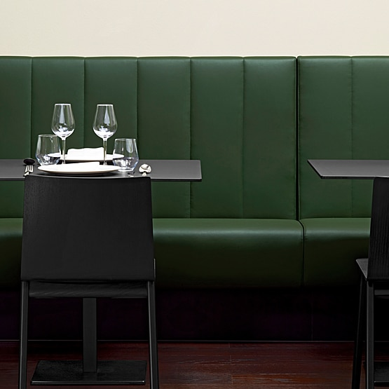 Is booth seating suitable for all dining spaces?