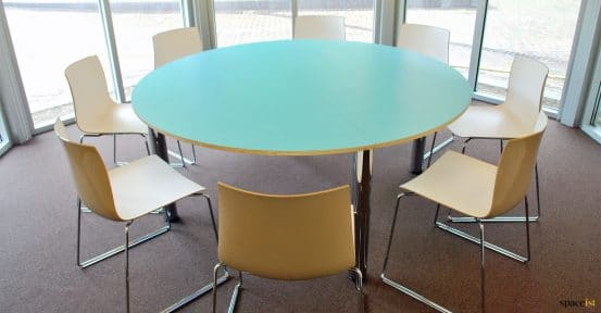 large round canteen table