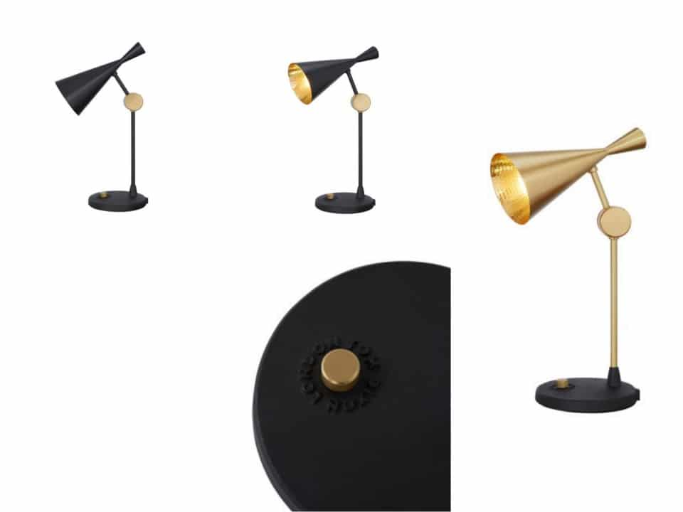 Lamps beat table brass tom ford