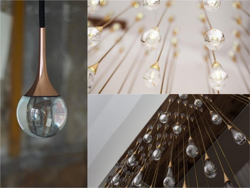 Lamps crystal drop lamp