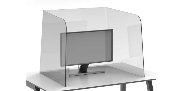 Large Clear Desk Protection Screen