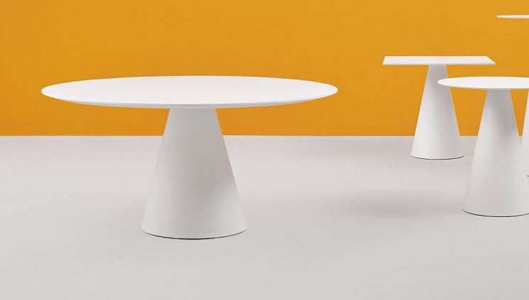 Large White Canteen Table