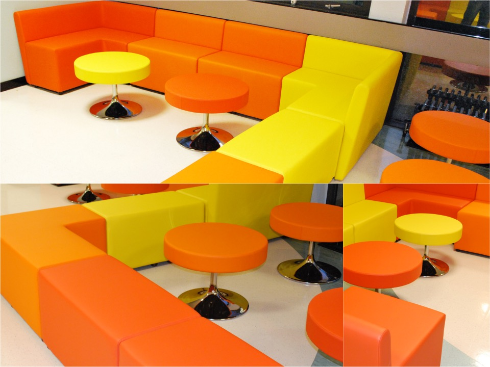 Modular seating at guildford college spaceist