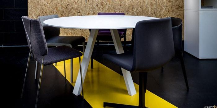 Office meeting furniture on display
