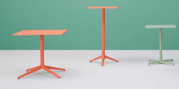 Orange Outdoor Table