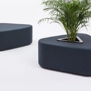 Ottoman with plant