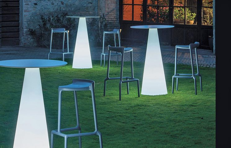 Outdoor High Table with Light