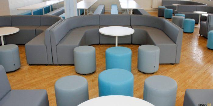 blue vinyl seating