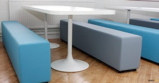 canteen tables blue