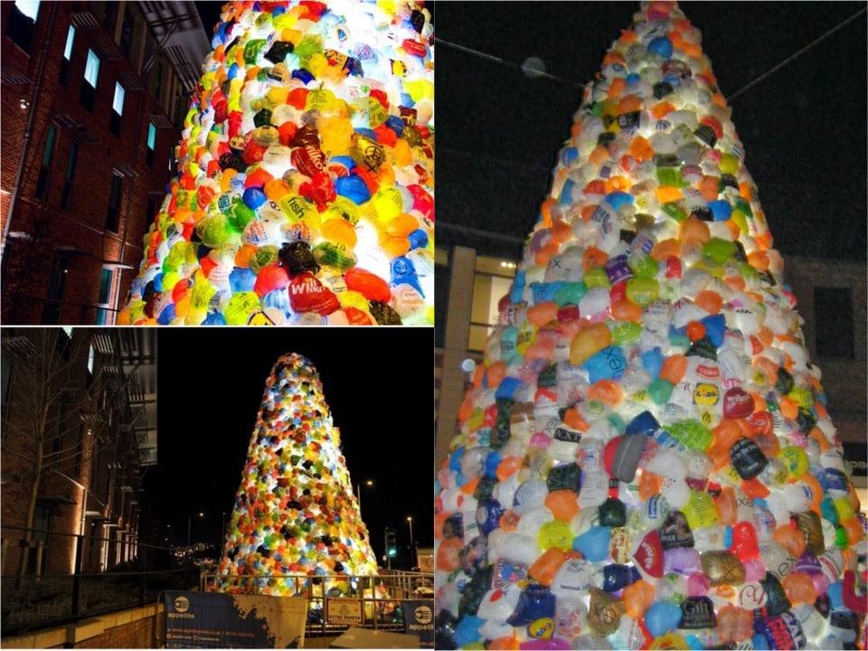 Plastic bag Xmas tree 2014