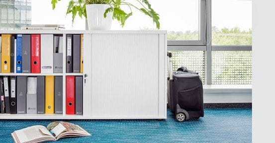 Tambour Door Office Storage
