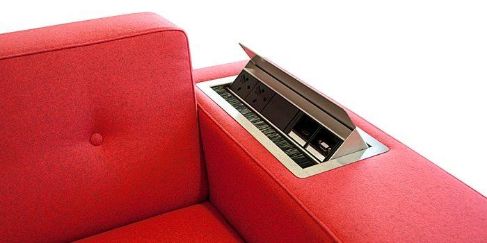 Reception Sofa Power Sockets