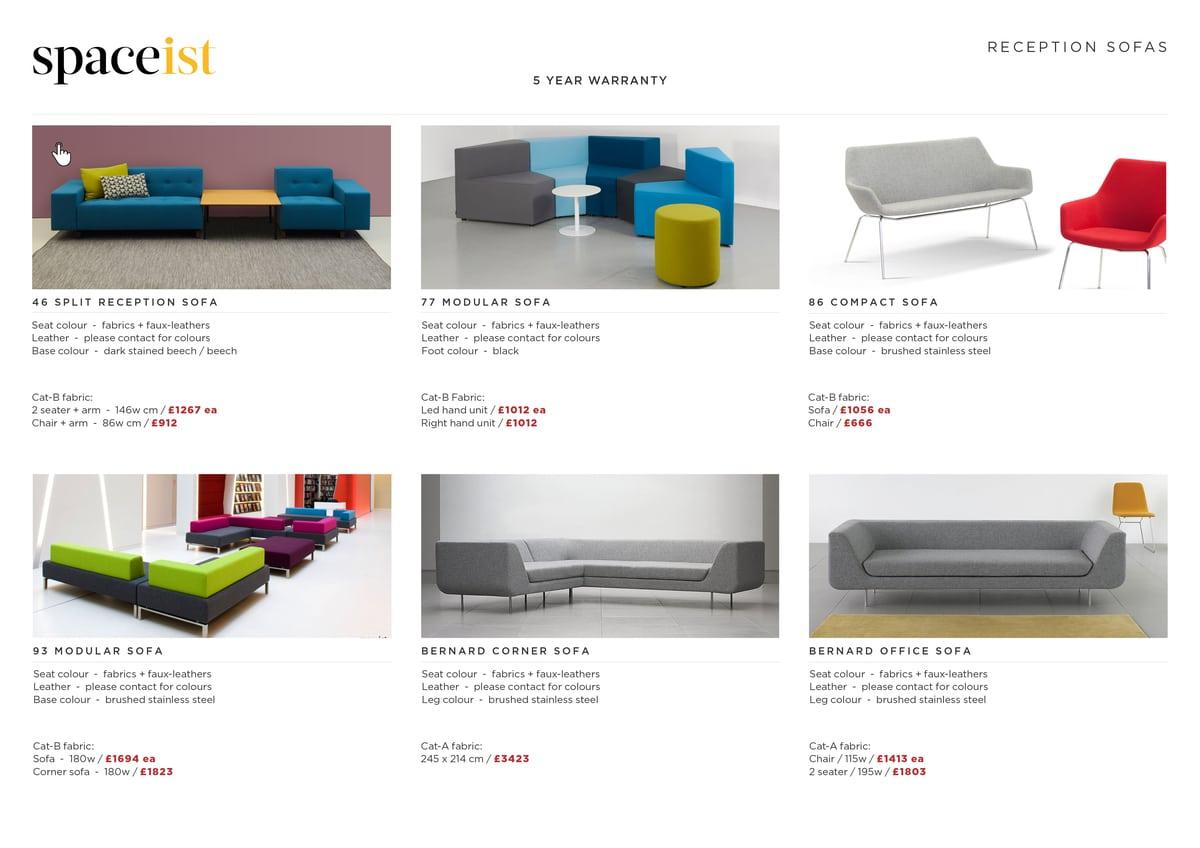 Reception Sofa Prices
